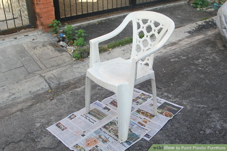 how to paint plastic chairs office recliner chair canada 3 ways furniture wikihow image titled step 2