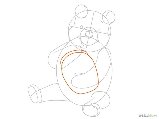 How to Draw Winnie the Pooh: 15 Steps (with Pictures
