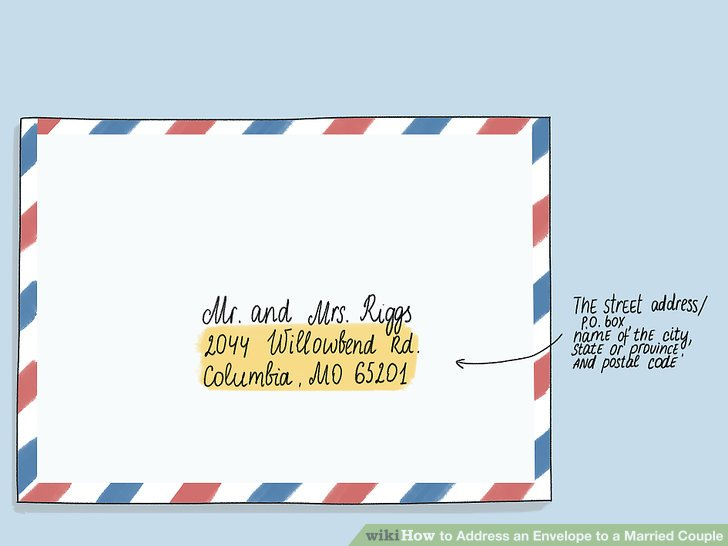 Fügen Sie die Adresse unter den Namen ein.