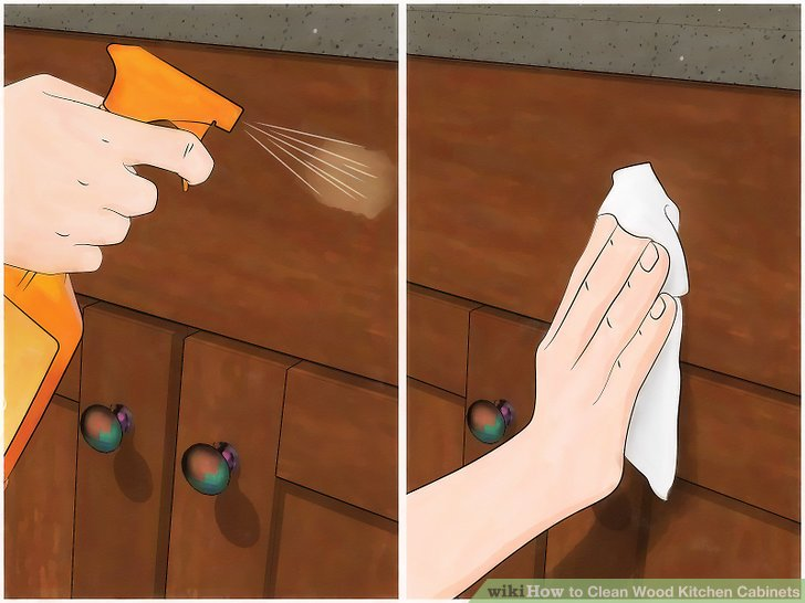 what to clean grease off kitchen cabinets stuff on sale 3 ways wood - wikihow