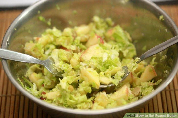 Erdnussbutter Krautsalat machen.