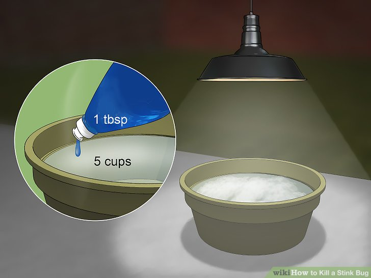 Fill a jar with water and dish detergent.
