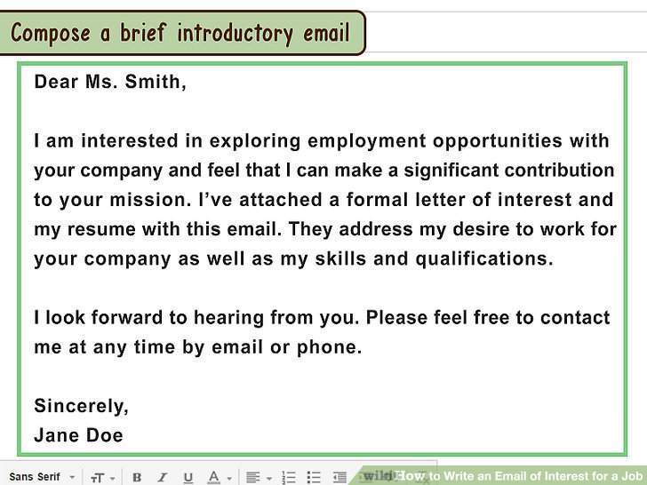 When Sending A Resume By Email What To Write Resume Ideas