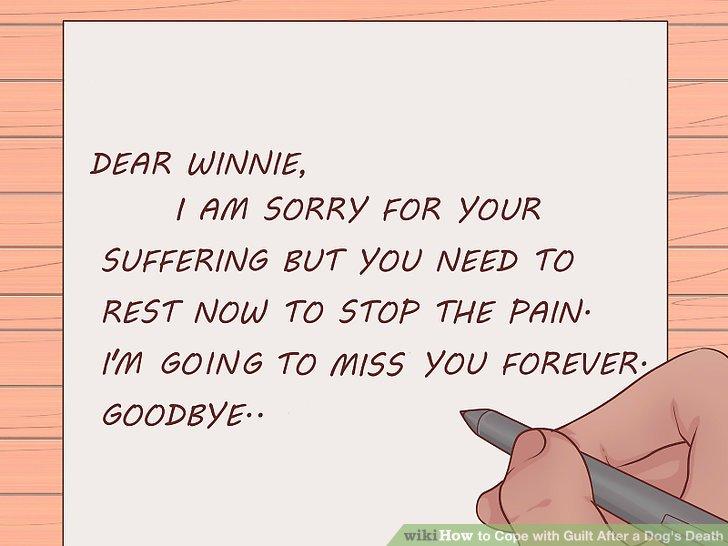 Schreiben Sie Ihrem Hund einen Entschuldigungsbrief.