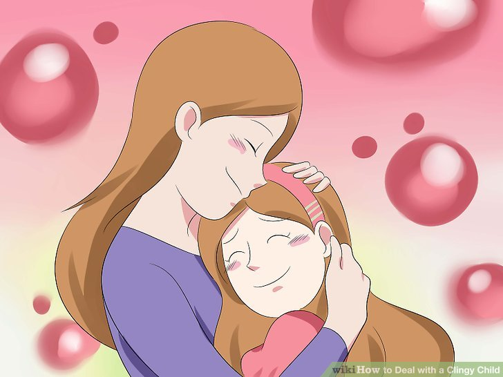 Unterstützen Sie Ihr Kind, indem Sie es beruhigen.