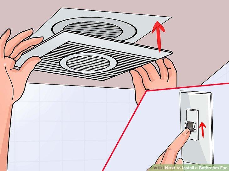 How To Install A Bathroom Fan  Wikie Cloud Design Ideas