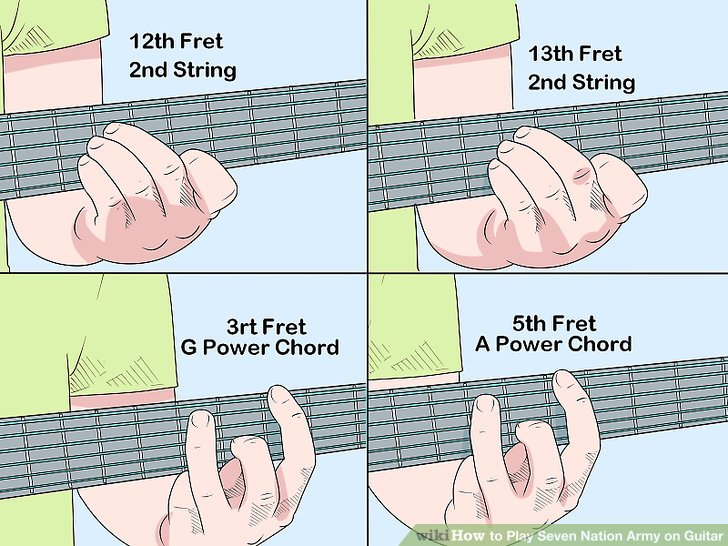 How To? - How to Play Seven Nation Army on Guitar