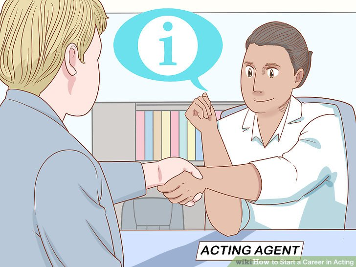 Find an acting agent.
