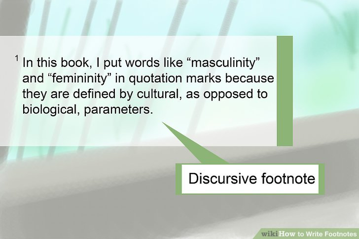 Geben Sie eine diskursive Fußnote ein.