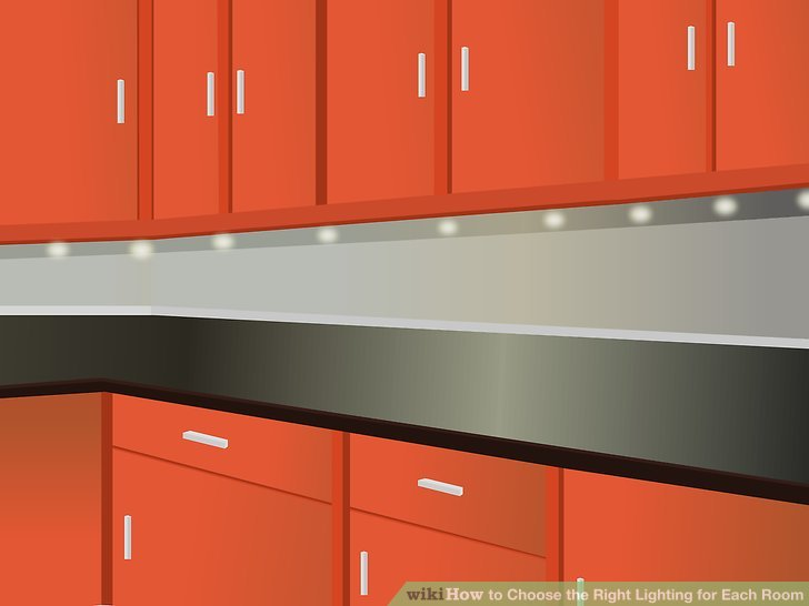 Use under cabinet lighting to help prevent shadows on the counters, while adding critical light to the workspace.