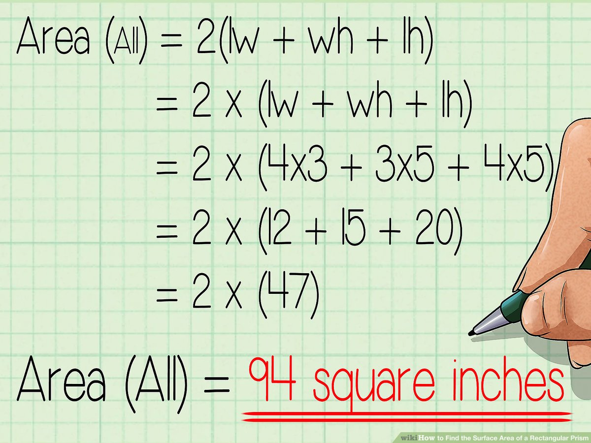 hight resolution of How to Find the Surface Area of a Rectangular Prism: 10 Steps