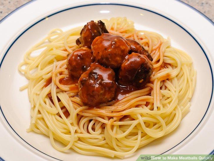 Drop meatballs into the saucepan.