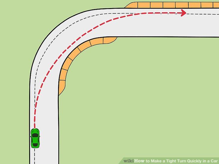 Stellen Sie Ihr Auto auf den äußersten Punkt der Straße.