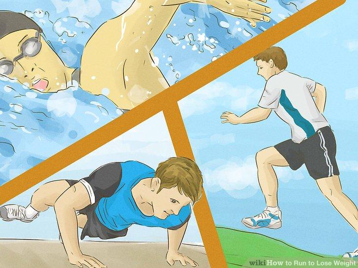 Kombinieren Sie Laufen mit anderen Übungen, um Ausdauer aufzubauen.