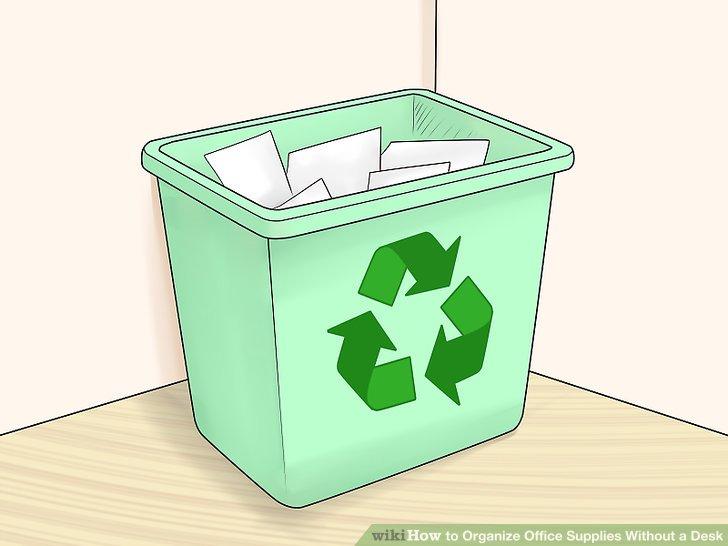 Lagern Sie Verbrauchsmaterialien, die Sie nicht oft verwenden.