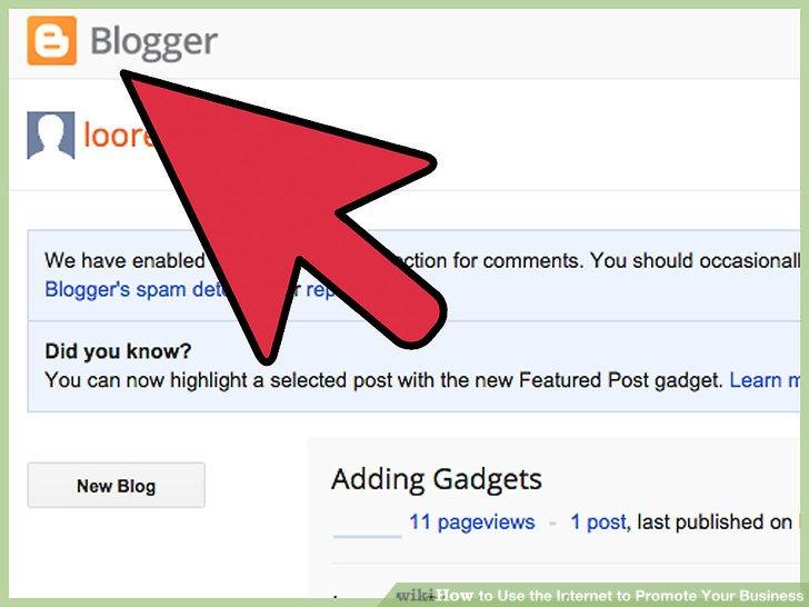 Wählen Sie einen Blogging-Dienst.