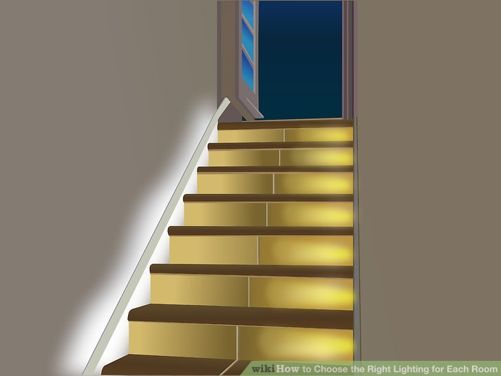 Remember that stairways and halls must have good general lighting for safety.