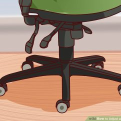 Ergonomic Chair Levers Ghost Replica How To Adjust An Office With Pictures Wikihow Image Titled Step 15