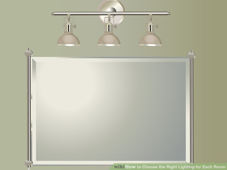 Mount one fixture over the mirror to light a bathroom, but realize it can cause shadows on the face.