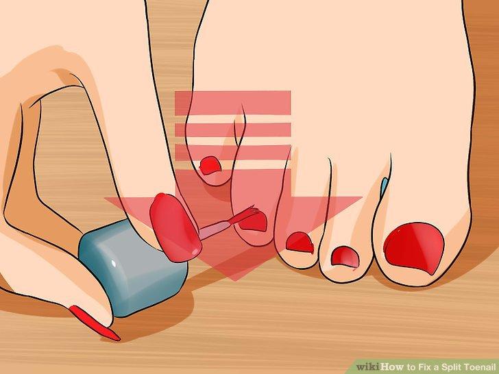 Benetzen Sie Ihre Nägel seltener.