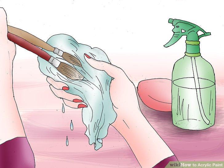 Reinigen Sie Pinsel und Arbeitsplatz.