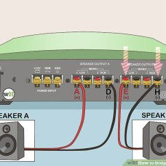 Bridging 4 Channel Amp Diagram Dvc6200 Sis Wiring How To Bridge An Amplifier: 7 Steps (with Pictures) - Wikihow