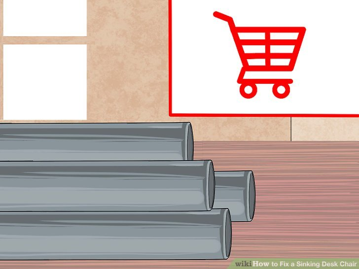 steel chair repair suppliers 2 easy ways to fix a sinking desk wikihow image titled step 8