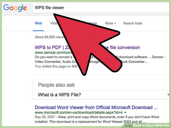 Search for a website that hosts an online WPS file viewer or file converter.