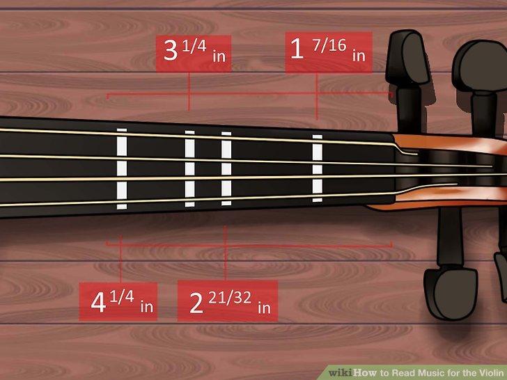 Markiere die Bünde auf deiner Geige.