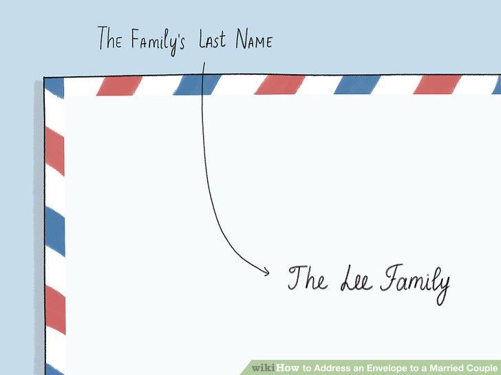 Schreiben Sie den Nachnamen der Familie, wenn Sie nicht einzelne Namen auflisten möchten.