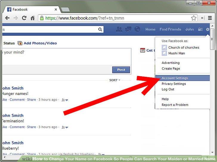 Image result for change name on facebook