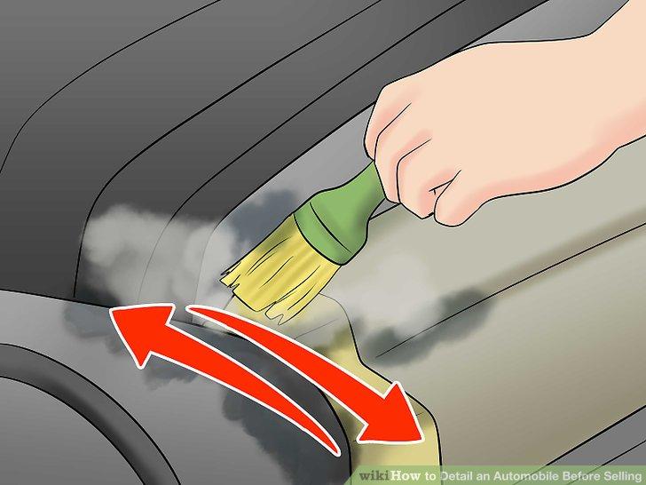 Verwenden Sie eine Bürste, um festsitzenden Schmutz zu schrubben.