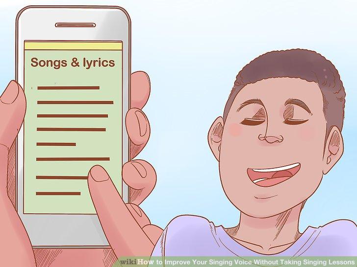 Singen Sie immer wieder ein bekanntes Lied.