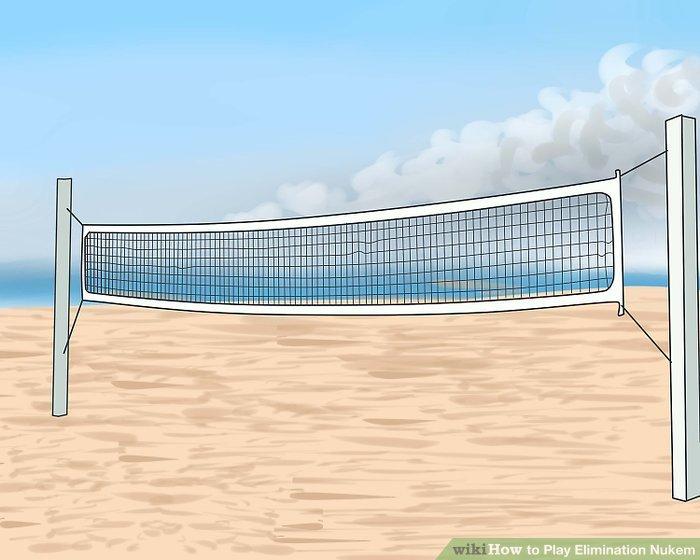 Finden Sie ein Volleyballfeld oder stellen Sie sich selbst ein Spiel zusammen.