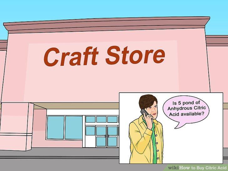 Zanaat mağazalarında sitrik asit olup olmadığını kontrol edin.