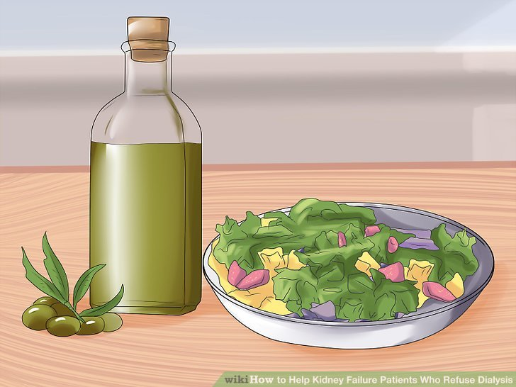 Verwenden Sie Olivenöl als Dressing für Salate oder als Kochersatz für normales Sonnenblumenöl.