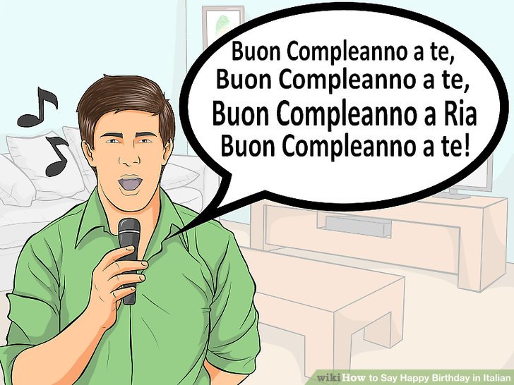 """Consider switching to """"buon compleanno"""" instead."""