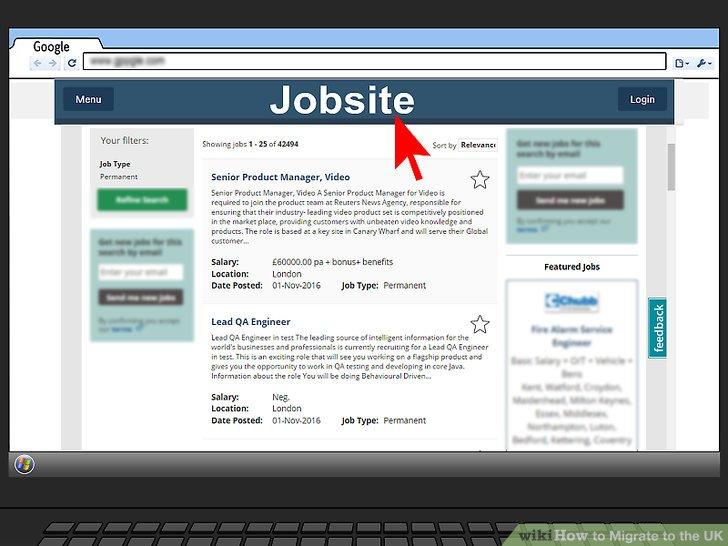 Eine Arbeit finden.