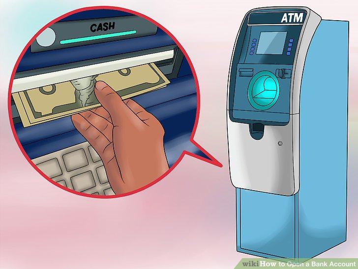 Get cash from an ATM.