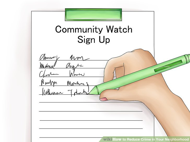Organize and/or join a neighborhood watch.
