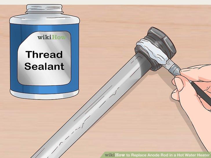 Tragen Sie Gewindedichtungsmittel auf die Gewinde der Stange auf, bevor Sie sie wieder einsetzen.