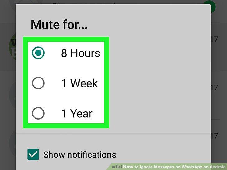 Wählen Sie eine Dauer aus.