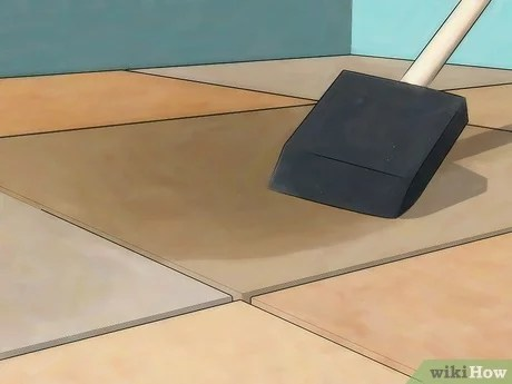 how to install marble floor tile with