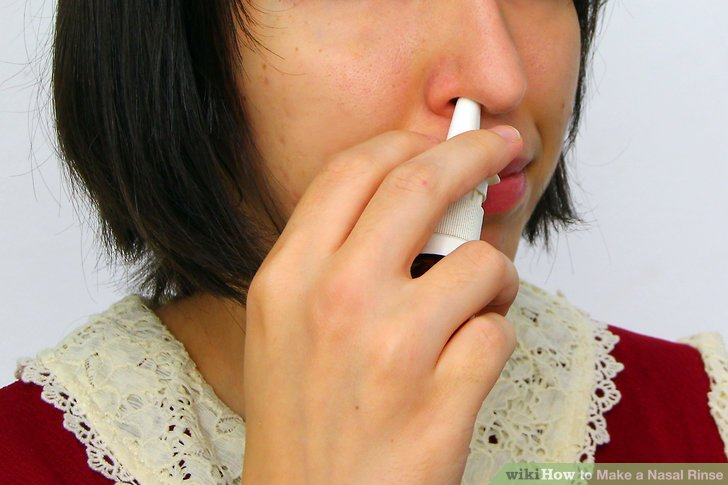 Use the solution to flush out your nasal passageways.