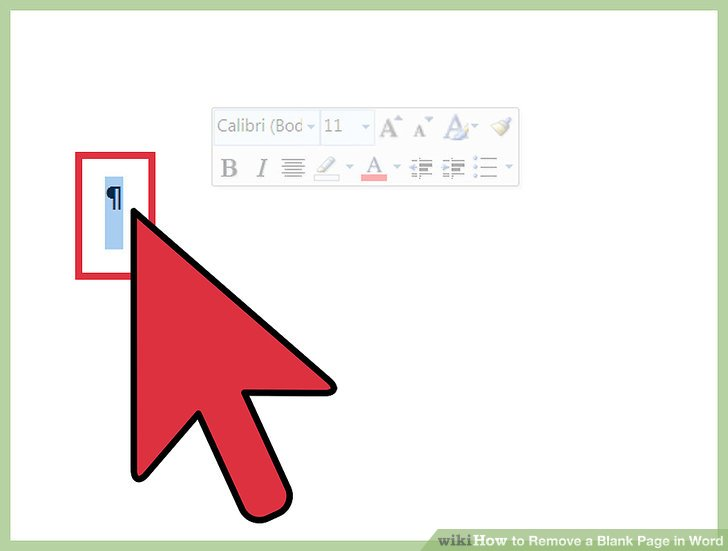 word remove blank page