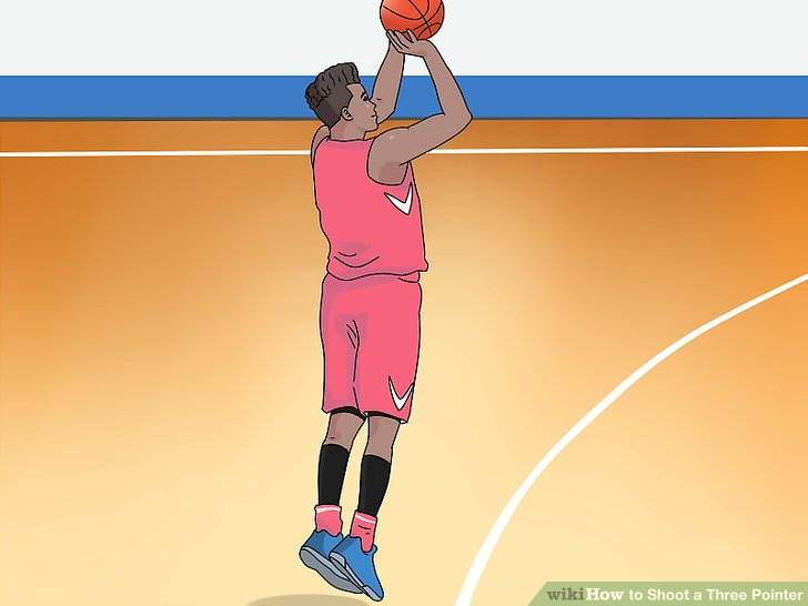Jump straight up as you extend your shooting arm.