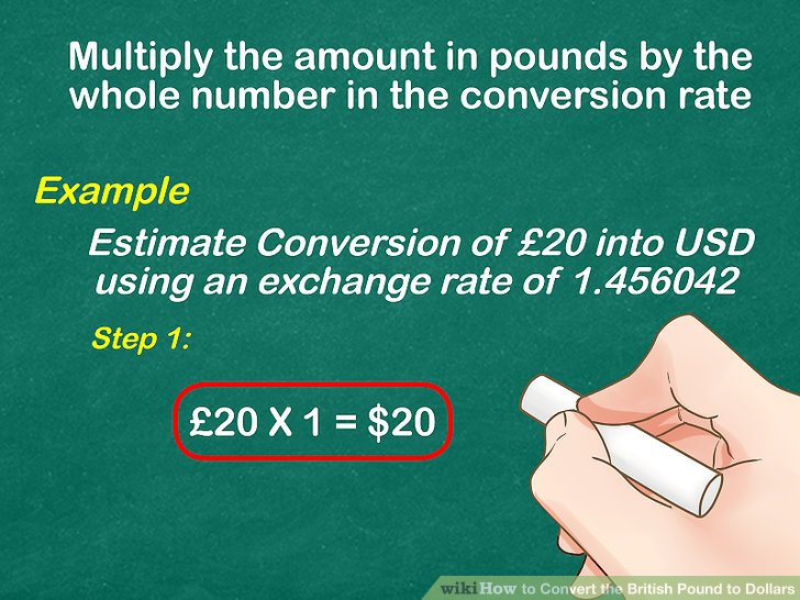 How to Convert the British Pound to Dollars: 11 Steps