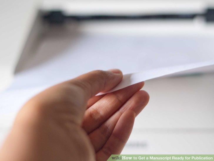 Drucken Sie Ihr Manuskript sauber aus.