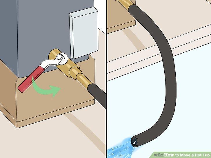Öffnen Sie das Ventil und lassen Sie das Wasser ab.