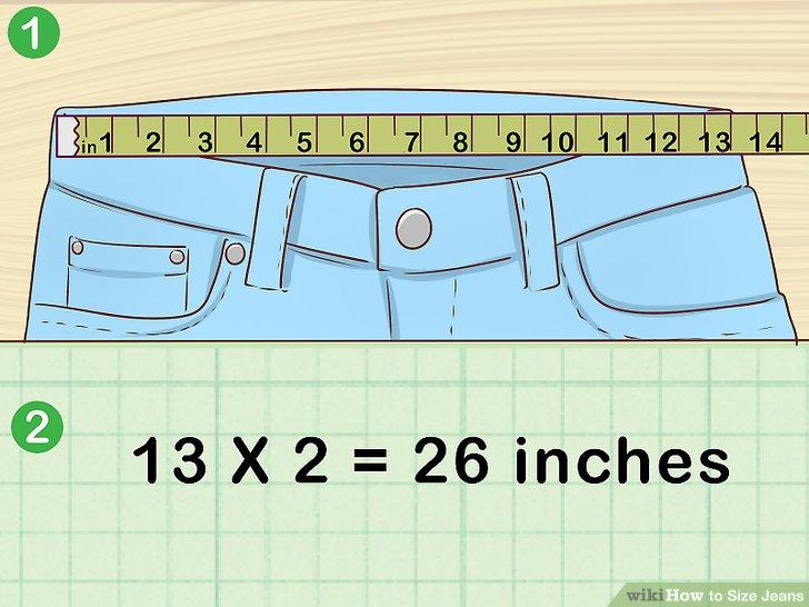Messen Sie den Bund und verdoppeln Sie die Zahl, um die Taillenweite zu erhalten.